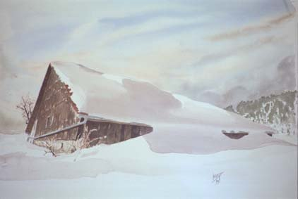 grange sous la neige 1993