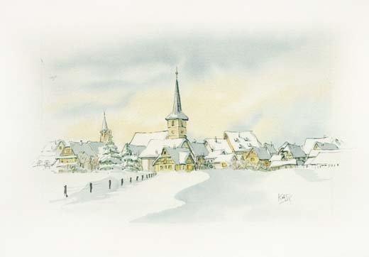 Mittelbergheim sous la neige 98