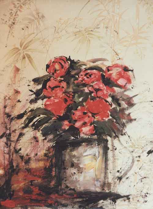 bouquet sur tapisserie
