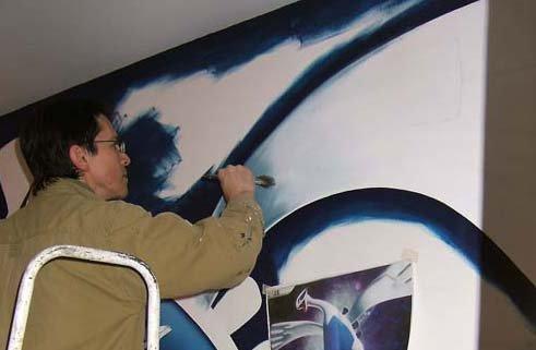 kazy peinture murale Pokemon Lugia - fresque emmanuel didier