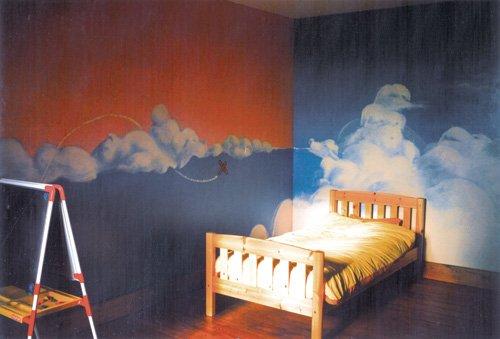 frises décoratives dans frise décorative fresque_nuages_frise_decorative_enfant